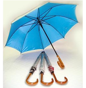 24' Auto Open UV Coated Wood Handle Umbrella - ULL508SPW