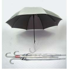 27' Auto Open UV Coated w Silver Handle Umbrella - UXL596S-96