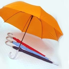 27' Auto Open w Silver Handle Umbrella - UXL591P-90