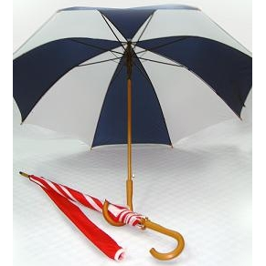 27' Real Wood Handle & Shaft 2 Tones Umbrella - UXL599PD-100