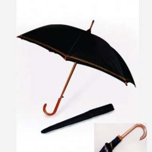 27-Real-Wood-Handle-Shaft-w-Gold-Imprinted-Strips-Umbrella-UXL599PA-100