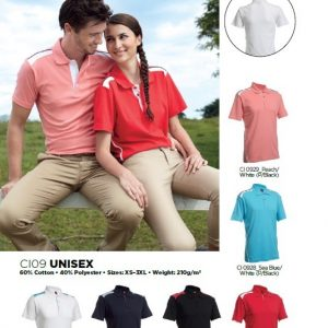 Unisex-Cotton-Interlock-Polo-Tee-CI09-150