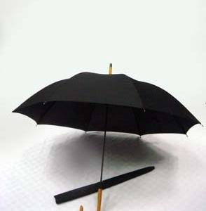 24-Auto-Open-w-Silver-Handle-Black-Checked-Fabric-Design-Umbrella-ULL529D-70