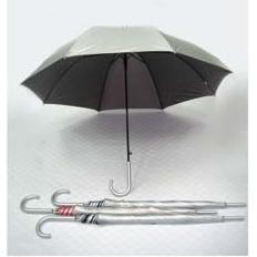 27' Auto Open UV Coated w Silver Handle Umbrella - UXL596S-96