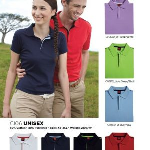 Unisex-Cotton-Interlock-Polo-Tee-CI06-150