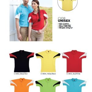 Unisex-Cotton-Interlock-Polo-Tee-CI08-166
