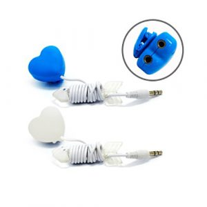 Heart Shape Music Sharing Device - AAHP1015-29
